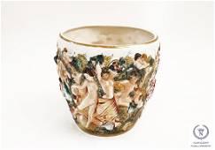 Vintage Italian Capodimonte Porcelain Vase Jardinaire