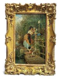 Hans Zatzka (Austrian, 1859-1945) oil on canvas