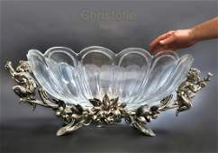 A Large Christofle Silver-plated Centerpiece, 19th C.