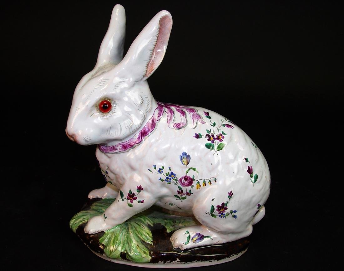 1920 French Galle Pottery Rabbit