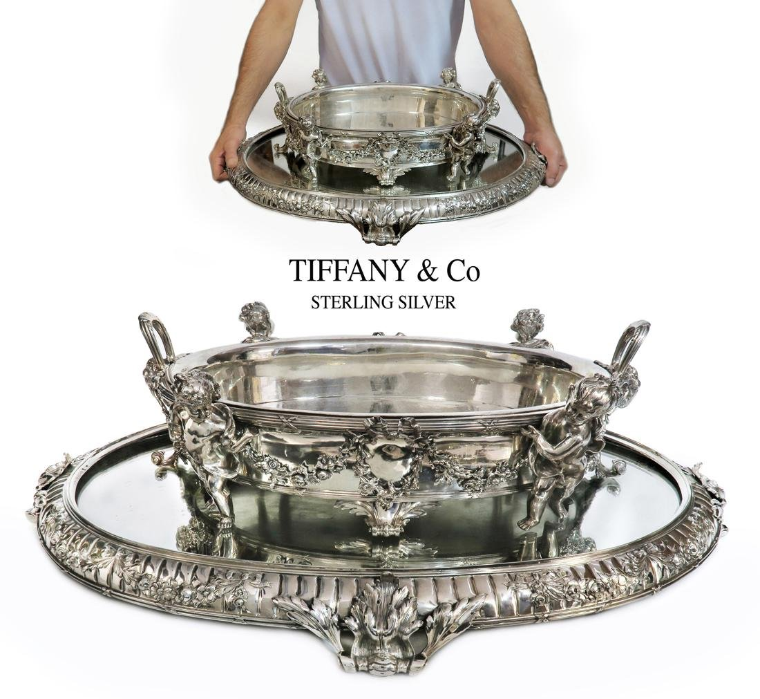 A Large TIFFANY & Co Sterling silver Jardiniere/plateau