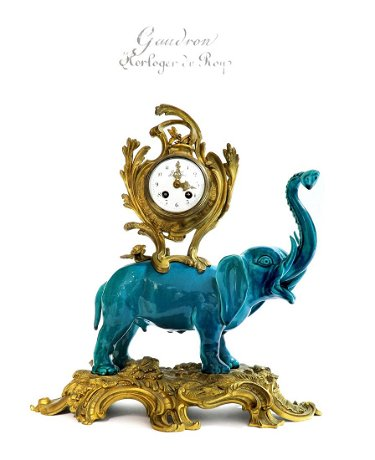 19th C French Chinoiserie Bronze Porcelain Clock Aug 16 2020 Antique Kingdom In Ca