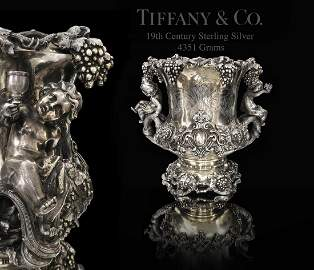 A Tiffany & Co. Figural Sterling Silver Wine Cooler