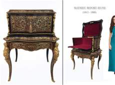 19th C. Mathieu Befort FIGURAL ORMOLU & BOULLE CABINET
