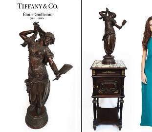 TIFFANY & Co. Emile Guillemin Orientalist Bronze Statue