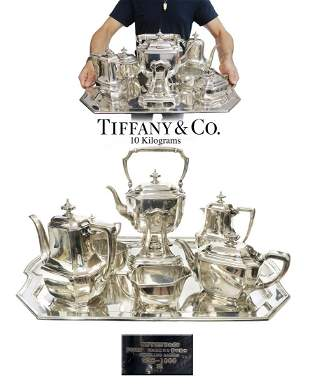 A Large Tiffany & Co. Sterling Silver Tea & Coffee Set