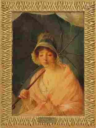 19 C. Oil Painting By AUGUST PIERRE SEZILLE DES ESSARTS