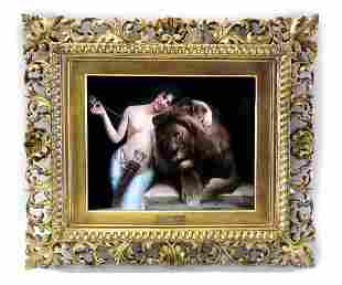 "A Monumental Framed Berlin KPM Plaque ""Love's Power"""
