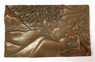 Earth Elements, Ann Zeleny Bronze Plaque, Signed