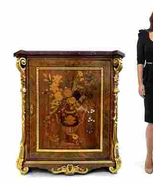 Fine 19th C. Bronze Mounted Inlaid Cabinet