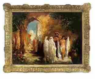 Georges Clairin (1843-1919) Orientalist Oil on Board