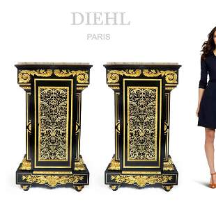 Important Pair of Pedestals by Charles-Guillaume Diehl