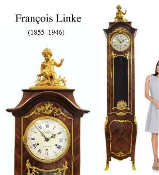 F. Linke, A Large Gilt-Bronze & Kingwood Grand Clock