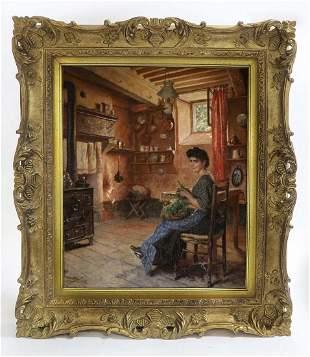 FERNAND CORMON (1845-1924) LARGE OIL ON CANVAS