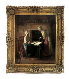 Jules Benoit Levy (1866-1925) Oil on Canvas
