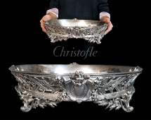 Large CHRISTOFLE Oval Silver-Plated Bronze Centerpiece