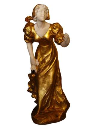 Large Bronze & Marble Sculpture, A. Gory Signed, 19th C