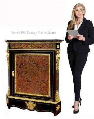 19th C. French Napoleon III Boulle Cabinet