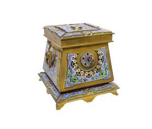 A French Gilt-Bronze & Cloisonne Enamel Casket / Box