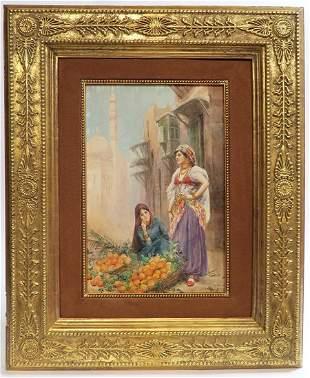 Fabio Fabbi Orientalist Watercolor Painting