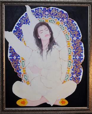 A Salar Ahmadian Painting, Signed