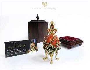 House of Faberge Lilies of the Valley Egg