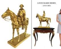 NAPOLEON ON HORSEBACK, LARGE BRONZE SCULPTURE, SIGNED