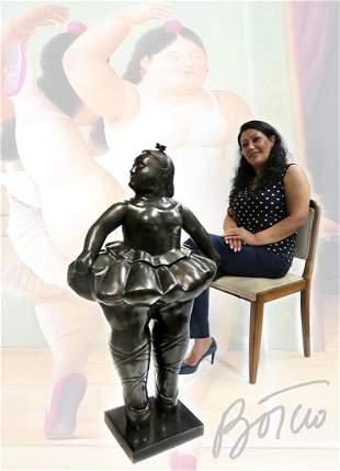 "A Monumental Botero Bronze titled Ballerina, H 43"""
