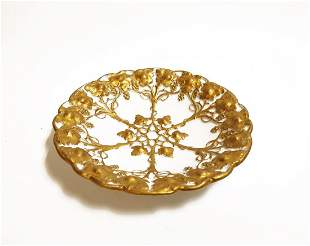 A German Meissen Gilt Porcelain Plate