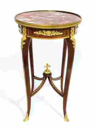 Francois Linke Louis XV Style Table Ambulante, Signed