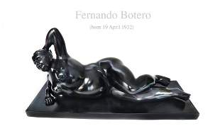 FERNANDO BOTERO Gertrudiz Great Bronze Sculpture Signed