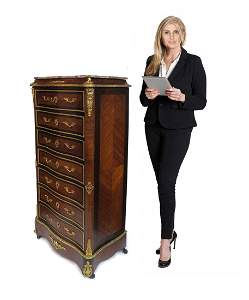 19th C. French Kingwood Lady's Desk/Cabinet