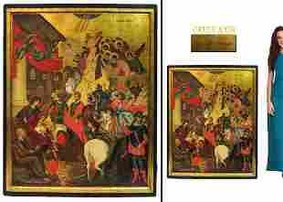 Early 19th C. After M. Damaskenos (16th C.) Large Icon