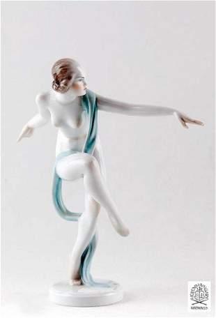 Orientalist Shawl Dancer, A Herend Hvngary Figurine