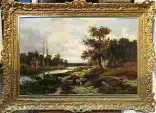 An Oil on Canvas By Abraham Hulk the Younger