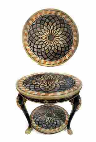 19th C. Italian Double Specimen Marble Table