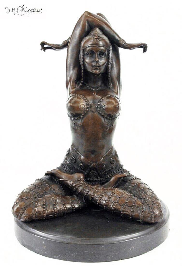 Civa After Chiparus Bronze Figurine, Signed