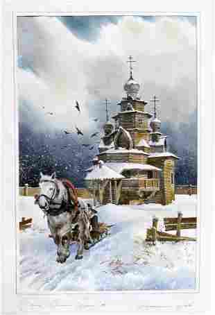 Christmas in Saint Petersburg, A Russian Watercolor