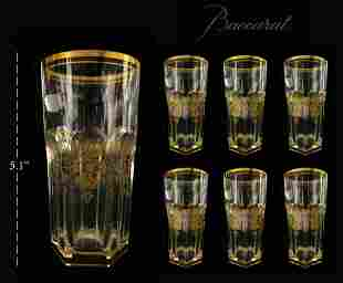 Set of 6 Harcourt Empire Baccarat Crystal Highballs