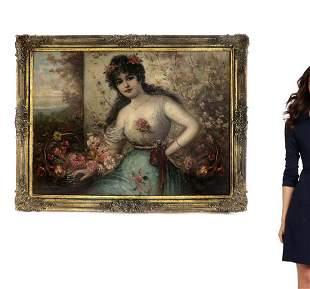 Leon-Francois Comerre (1850-1916) Large O/C