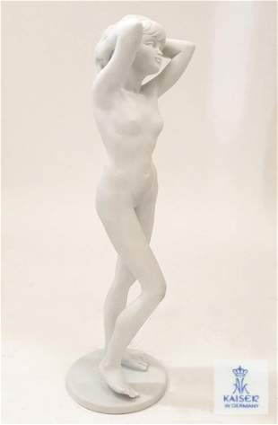 Nude Standing, German Kaiser Porcelain Figurine, Signed