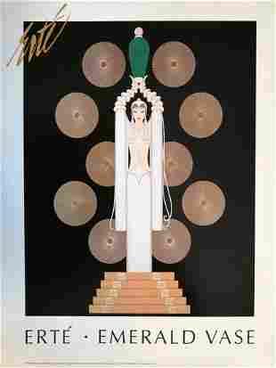 Emerald Vase, A Large ERTE Lithograph Poster, 1999