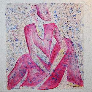 A Parvin Bavafa Painting, Signed