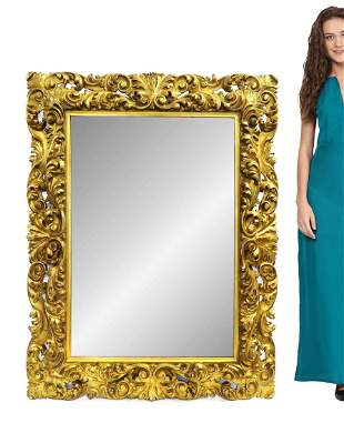 A Large 19th C. French Carved Gilt Wood Mirror