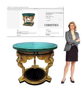 A Large Italian Figural Bronze & Malachite Center Table