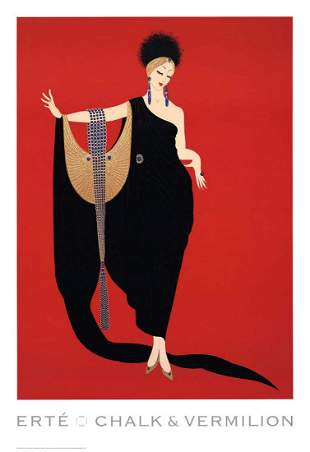 Glamour, A Large ERTE Lithograph Poster, 1997