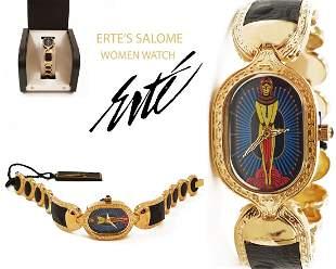Salome, House of ERTE 18K Gold Plated Bracelet Watch
