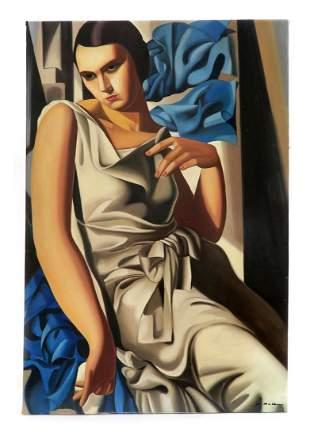 Portrait de Madame M, After Tamara de Lempicka Painting