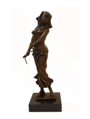 Egyptian Dancer, An Aldo Vitaleh Original Bronze Statue