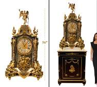 A French Bronze Boulle Mantel Clock